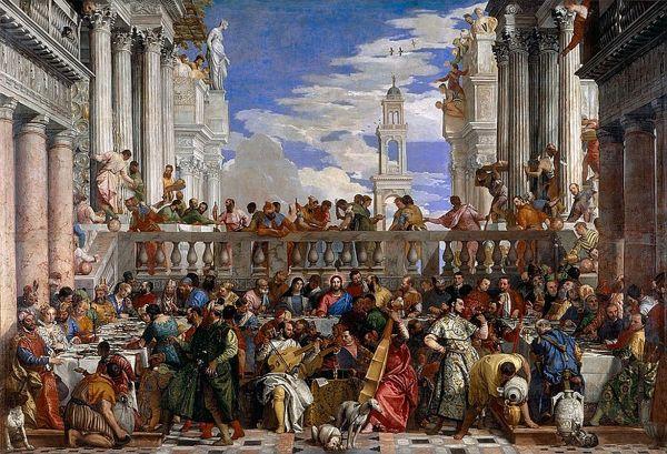 Paris Louvre Painting 1562-63 Veronese - Wedding Feast Cana