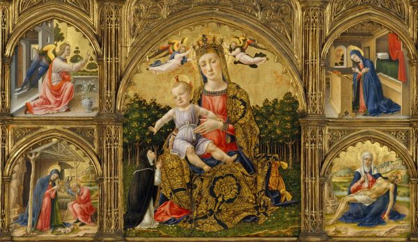 Madonna Of Humility Annunciation Nativity