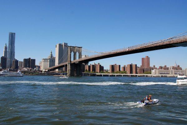 York Brooklyn Bridge With Woolworth Building Gehry