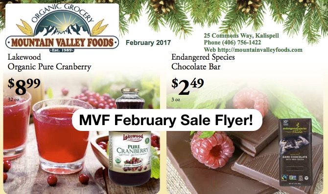 February Sale Items to Love @ Mountain Valley Foods!