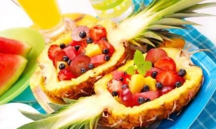 Fruit Salad Pineapple Bowls