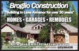 Broglio Construction General Contractors Lake Almanor Ca 530-596-3076 WebDirecting.Biz