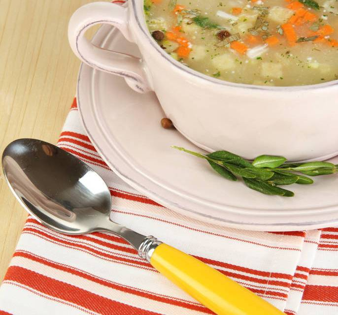 Simmering Soups Cream of Chicken with Wild Rice and Good Old-Fashioned Vegetable Beef