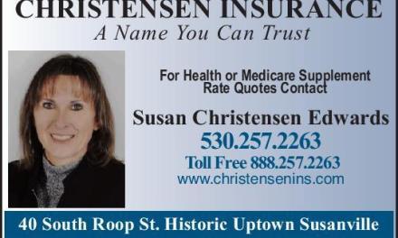 Christensen Insurance Life, Auto, Home, Health Insurance Susanville Ca 530-257-2263 WebDirecting.Biz