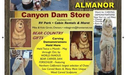 Canyon Dam Store Canyon Dam Ca 530-284-7046 Carved Bears Cabin Rentals RV Park WebDirecting.Biz