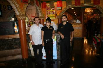 manager Pano, and his assistant managers Erika and Ezequiel CreditWendySnow