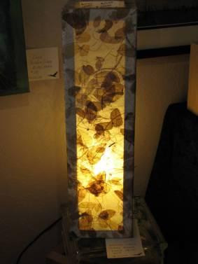 MeetTheArtistPapier Mache lamp by Gayle Bower