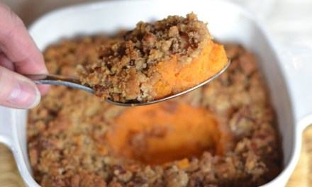 Sweet Potato Crisp with Pecan Topping