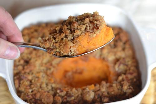 Sweet Potato Crisp with Pecan Topping