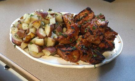 Barbecued Potato Pouches