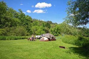 Family tent camping VT
