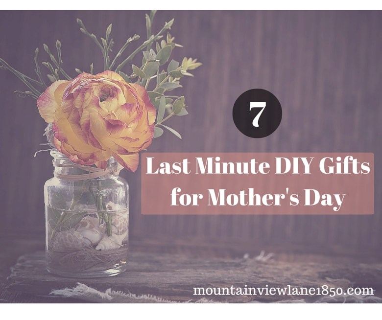 Mother's Day-7 Last Minute DIY Ideas