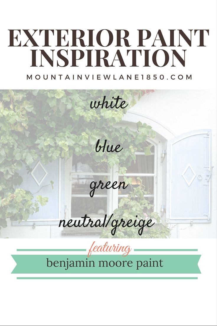 Exterior Paint Color Inspiration