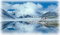 mountain lake in Shimshal, Pakistan