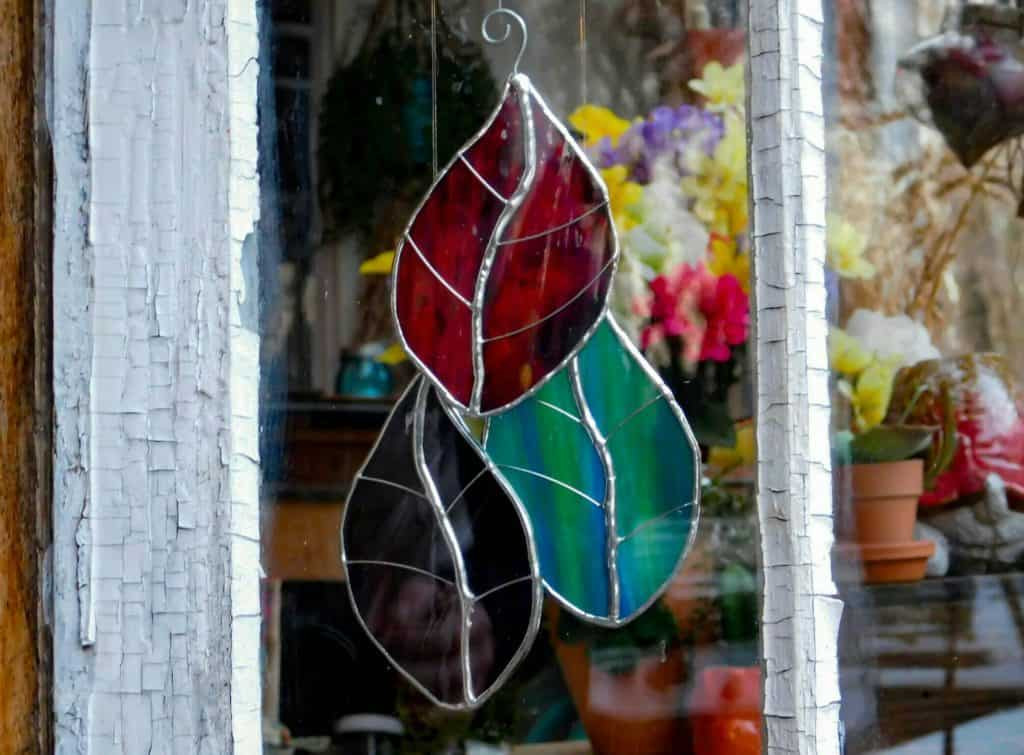 Leaf Suncatcher Ornament Stained Glass
