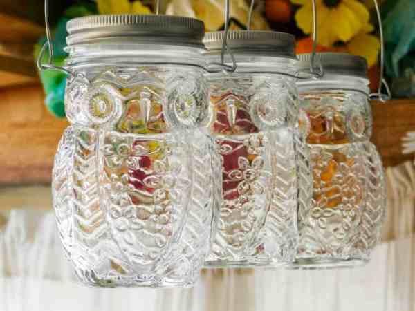 hanging owl jars