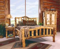 Rustic Log Bedroom Furniture | Log Furniture Bed ...