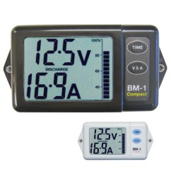 Marine Battery Monitoring System Bargman Wiring Diagram Nasa Monitors Compact 12v Or 24v White