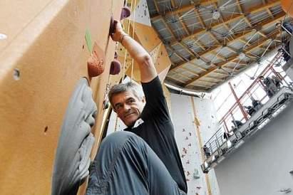 Torino: Sergio Chiamparino in arrampicata