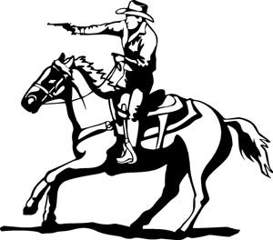Mounted Shooter, Cowboy Decal