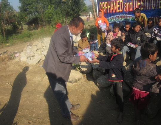 distribution-book-and-stationary-to-the-lost-children-of-nepal-country