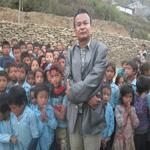 Rajendra Nhisutu is with children