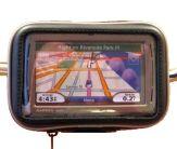 Weatherproof GPS case on a handlebar