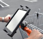 Mounting your iPhone, iPad, Mobile Phone or Tablet to a Grocery Store Shopping Cart