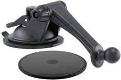 The Arkon Mount fits the Garmin Dash Cam 35 and 30 real well