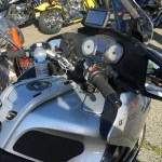 Phone, GPS and Drink Mounts for a BMW R1200RT Motorcycle