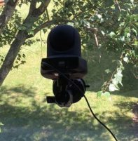 Amcrest Camera on an Arkon Mount