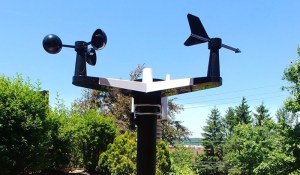 Ambient Weather Station Mounted to a Pole