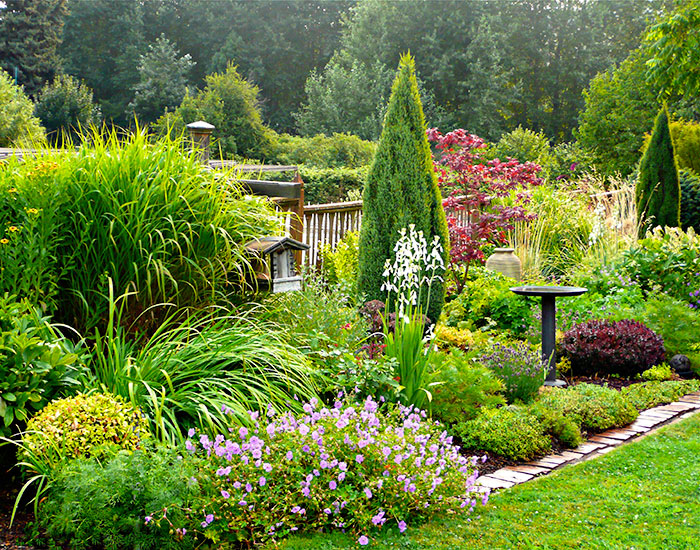 English Mixed Border Cottage Gardens Mount Hood Gardens Inc