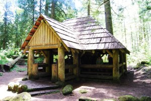 Log Shelter at Tollgate Campground