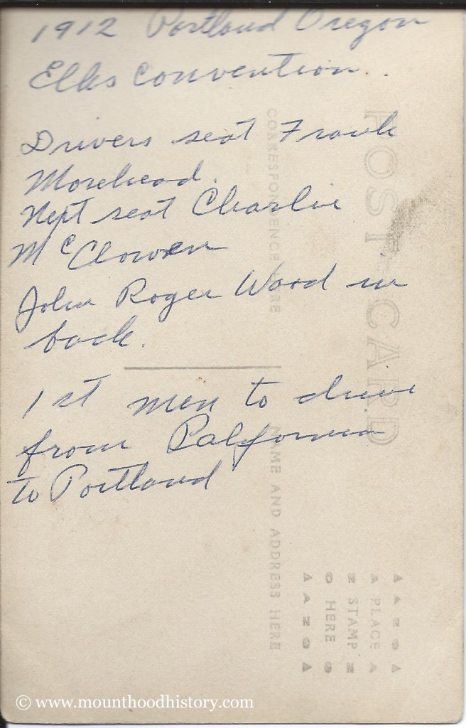 Note on back of photo