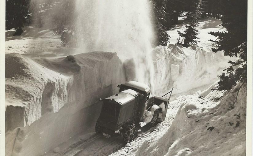 Snowplow on Mt Hood Loop Highway