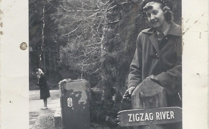 Zigzag River near Rhododendron Oregon – 1948