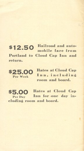 Cloud Cap Inn Flyer