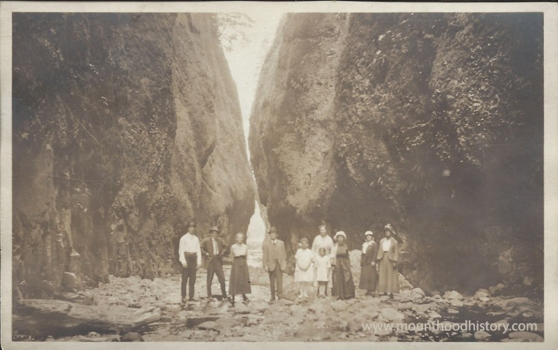A Day at Oneonta Gorge circa 1910