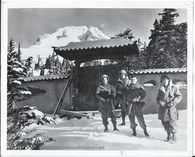 """All The Young Men"" movie extras on Mt Hood"