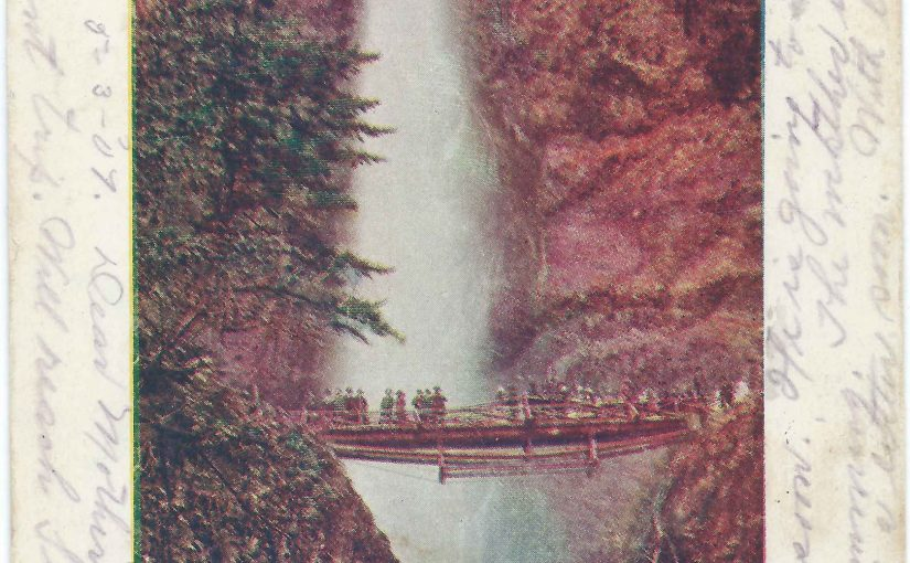 Old ORNCo Wooden Bridge over Multnomah Falls Creek