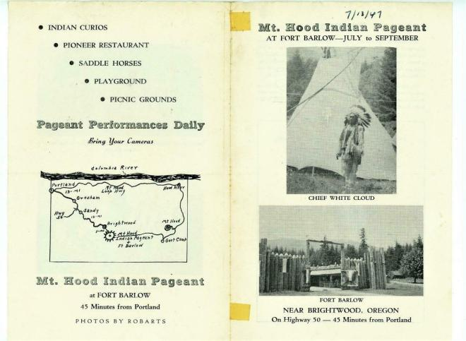 Mt Hood Indian Pageant Flyer