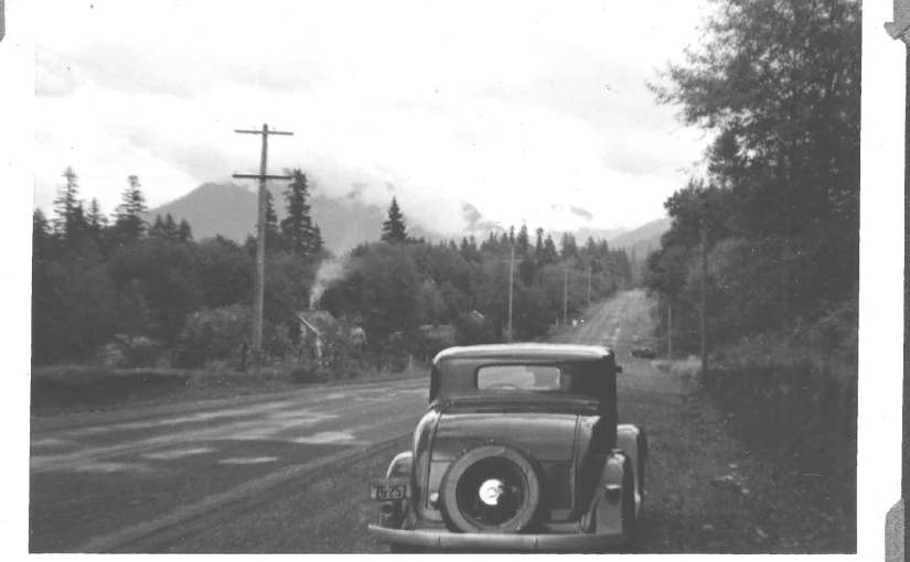 Mount Hood Highway at Alder Creek 1939