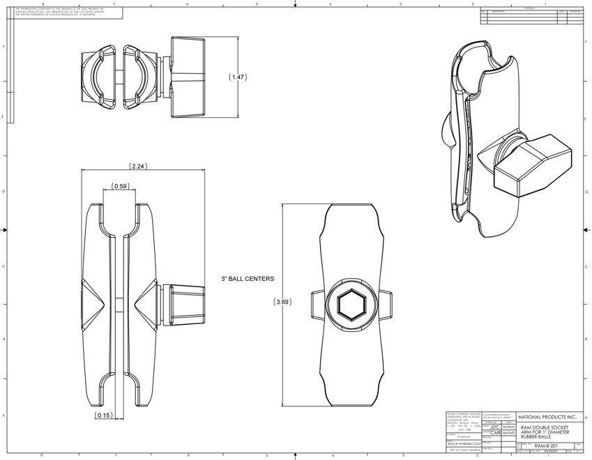 Uchwyt montowany na elementach w kształcie rurki do Garmin