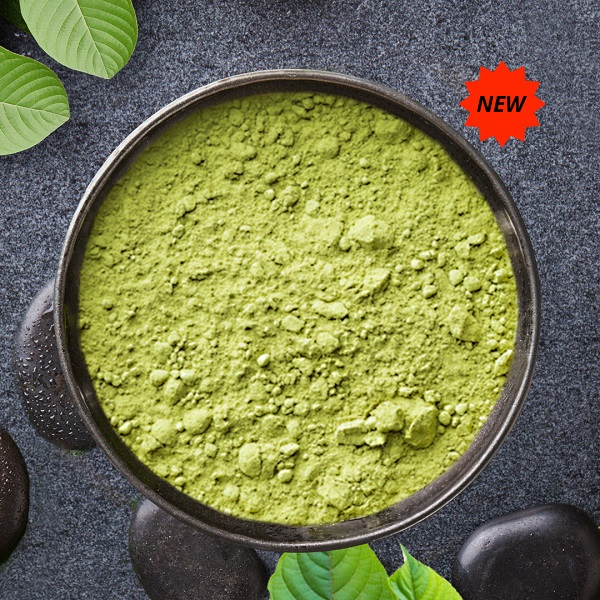Picture of green borneo kratom powder