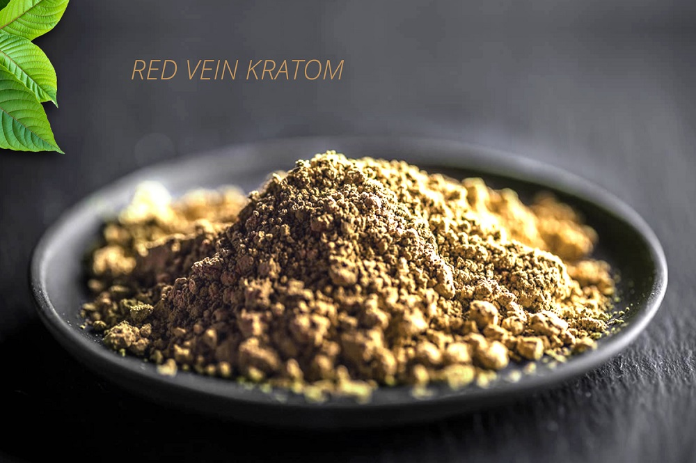 photo of red kratom powder after it was processed into a powder.