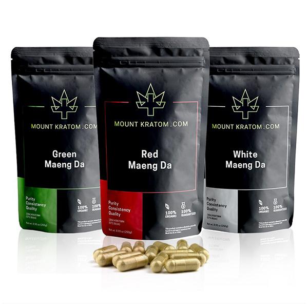kratom capsule variety pack 3 strains