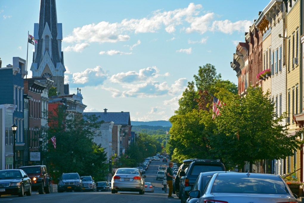 Hudson, NY's popular Warren Street thoroughfare