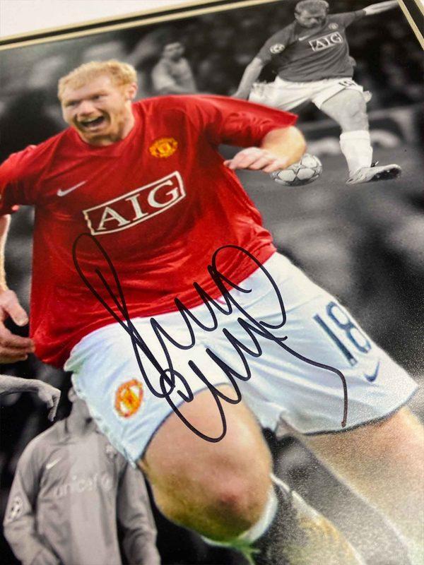 personally signed paul scholes autograph up close