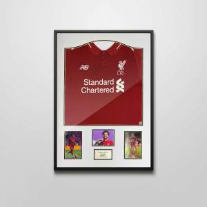 authentically signed mo salah autograph framed shirt